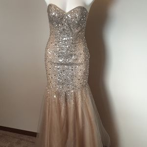 Beautiful champagne gold Terani Couture gown